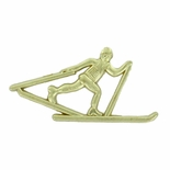 CROSS COUNTRY SKI CHENILLE PIN GOLD