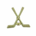CROSSED HOCKEY STICKS CHENILLE PIN GOLD