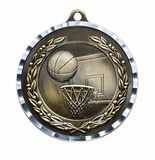 D Series, 2 Inch Antique Finish Diamond Cut Medal Series