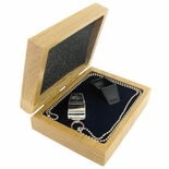 DELUXE SILVER WHISTLE GIFT SET IN A GENUINE OAK BOX