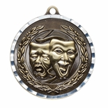 DRAMA ANTIQUE FINISH BRASS MEDAL