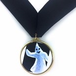 GHOST INSERT ON MEDAL FRAME WITH BLACK RIBBON