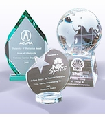 Glass, Crystal and Acrylic Trophies
