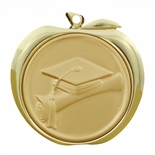 GRADUATE APPLE MEDAL - GOLD, SILVER OR BRONZE