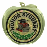HONOR STUDENT APPLE MEDAL