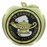 IN HONOR OF ACADEMIC EXCELLENCE APPLE MEDAL