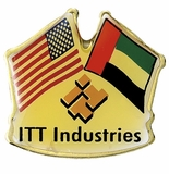 ITT INDUSTRIES CROSSED FLAG PIN