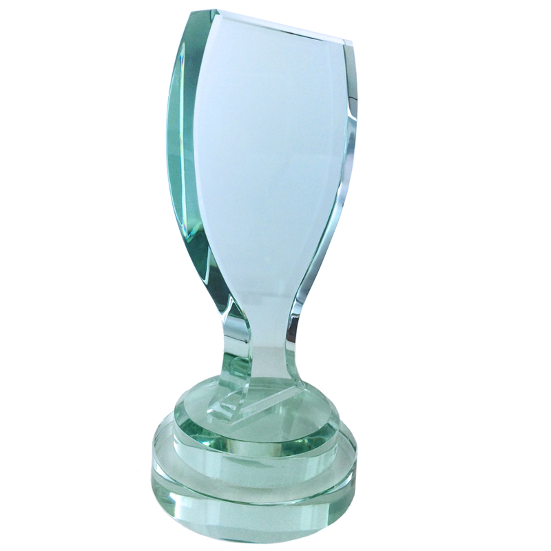 8 1 4 INCH JADED GLASS TROPHY CUP DESIGN