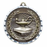 LAMP OF KNOWLEDGE ANTIQUE FINISH BRASS MEDAL