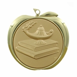 LAMP OF LEARNING APPLE MEDAL - GOLD, SILVER OR BRONZE