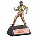 Large Electroplated Resin Sport and Occupational Trophies