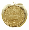 MA Series, 2 Inch Stamped and Mylar Apple Medals