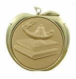 MA Series - 2 Inch Stamped Academic Apple Medals