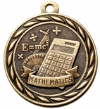 MATHEMATICS MEDAL IN ANTIQUE BRASS, SILVER OR BRONZE