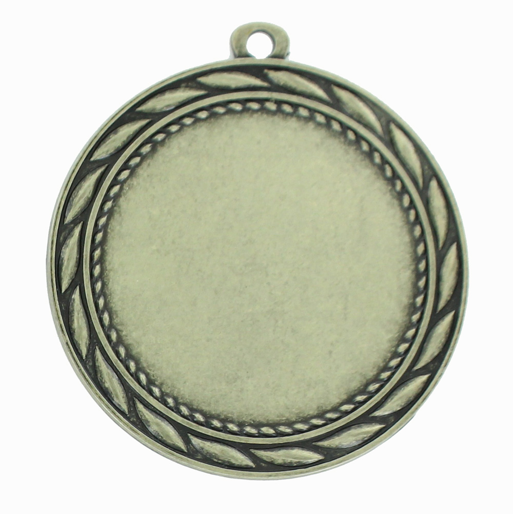 MEDAL FRAME WITH WREATH, HOLDS 2 INCH MEDALLION INSERT  ANTIQUE