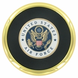 METAL COASTER WITH U.S. AIR FORCE INSERT