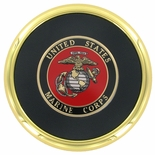 METAL COASTER WITH U.S. MARINE CORPS INSERT
