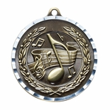 MUSIC ANTIQUE FINISH BRASS MEDAL