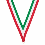 NECK RIBBON GREEN WHITE RED