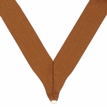 NECK RIBBON METALLIC BRONZE