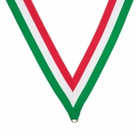 NECK RIBBON RED WHITE GREEN
