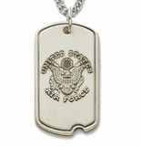 New Sterling Silver Military Dog Tags
