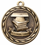 OUTSTANDING STUDENT MEDAL IN ANTIQUE BRASS ONLY