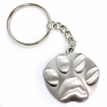 PAW PRINT ANTIQUE PEWTER FINISH KEY CHAIN