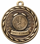 PERFECT ATTENDANCE MEDAL IN ANTIQUE BRASS ONLY