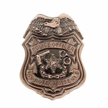 POLICE SHIELD BADGE LAPEL PIN, SIZE 1 INCH