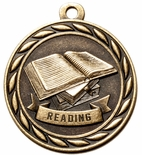 READING MEDAL IN ANTIQUE BRASS, SILVER OR BRONZE