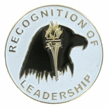 7/8 INCH ENAMELED RECOGNITION OF LEADERSHIP LAPEL PIN