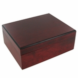 ROSEWOOD FINISH KEEPSAKE BOX