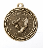 SCHOLAR ATHLETE MEDAL IN ANTIQUE BRASS ONLY