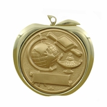SCHOLASTIC ACHIEVEMENT APPLE MEDAL - GOLD, SILVER OR BRONZE