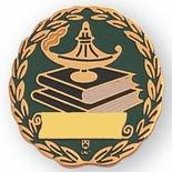 SCHOLASTIC PIN ENAMELED, GOLD