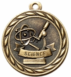 SCIENCE MEDAL IN ANTIQUE BRASS, SILVER OR BRONZE