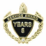 SERVICE AWARD PIN WITH RHINESTONE, 5 YEARS