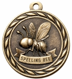 SPELLING BEE MEDAL IN ANTIQUE BRASS, SILVER OR BRONZE