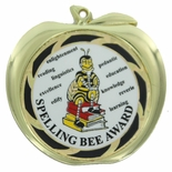 SPELLING BEE AWARD APPLE MEDAL