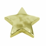 STAR PAPERWEIGHT GOLD COLOR POLISHED BRASS FINISH