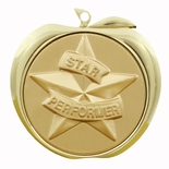 STAR PERFORMER APPLE MEDAL - GOLD, SILVER OR BRONZE