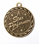 STAR PERFORMER MEDAL IN ANTIQUE BRASS ONLY
