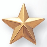 STAR PIN GOLD 5/8 INCH