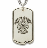 Sterling Silver Military Dog Tags