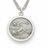 Sterling Silver Sportmedals with St. Christopher Back