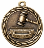 STUDENT COUNCIL MEDAL IN ANTIQUE BRASS ONLY