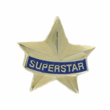 SUPERSTAR SOFT ENAMELED GOLD PLATED PIN