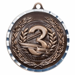 THIRD PLACE PLACE ANTIQUE FINISH BRASS MEDAL