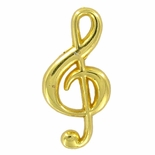 TREBLE CLEF PIN POLISHED GOLD